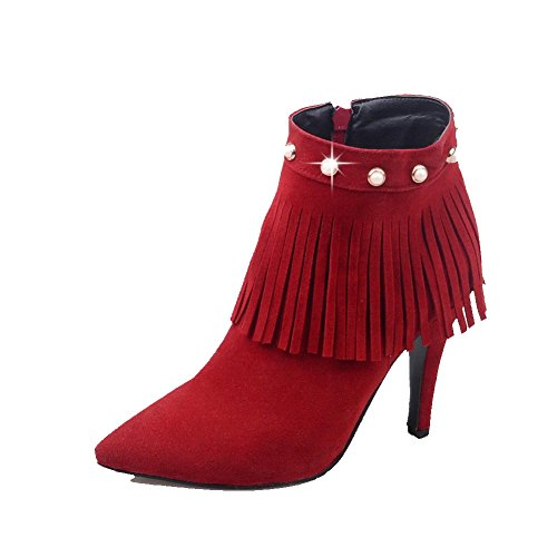 weenfashion-womens-zipper-high-heels-imitated-suede-solid-low-top-boots-red-34