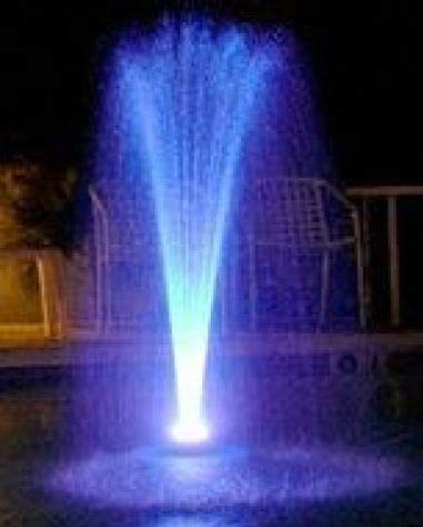 - Ocean Mist Floating Fountain w/ 48 LED (white)-600 gph