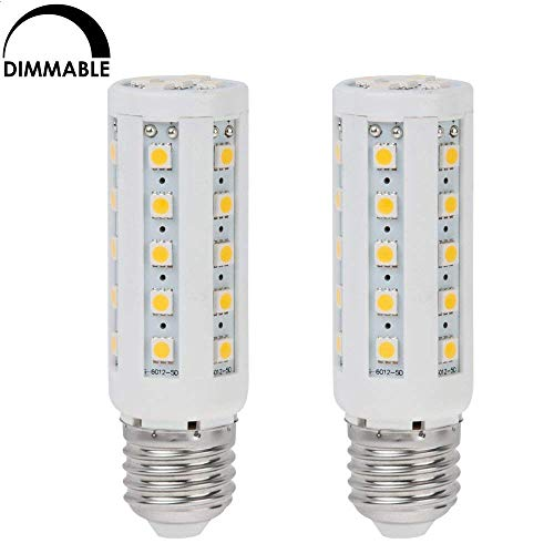 HERO-LED  DIM-LCL35T-WW Dimmable T10 E26/E27 Tubular LED Incandescent Replacement Lamp, 7W, 60W Equal, Warm White 3000K, 2-Pack