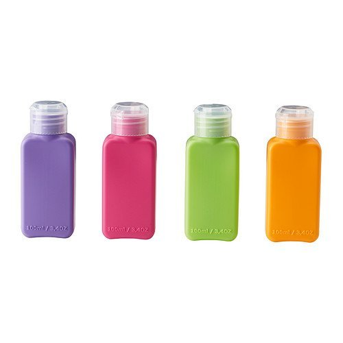 Price comparison product image Ikea Upptacka Bottle,  Assorted Colors - 4 Pack by IKEA
