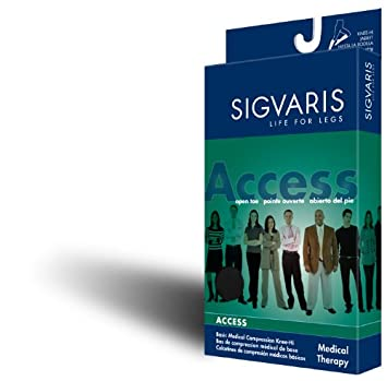 20cd3e38f8 Image Unavailable. Image not available for. Color: Sigvaris 970 Access  Series 20-30 mmHg Unisex Open Toe Knee Highs ...