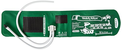 Tube Tri Purpose Connector - Welch Allyn REUSE-09-2TP FlexiPort Reuseable Blood Pressure Cuffs with Two-Tube Tri-Purpose Connector and Empty Tube, Child, Size 9