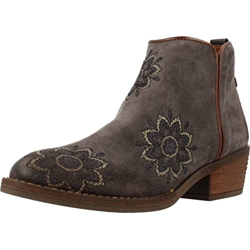 ALPE 3459 Western Style Ankle Boot with Embroidery Grey