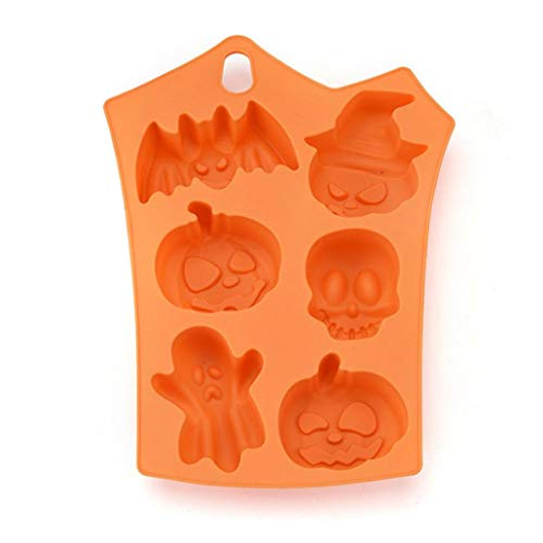 (Sacow Halloween Cookies Mold, Creative Silicone Pumpkin Biscuits Mold Halloween Cake Mold Kitchen Bake)
