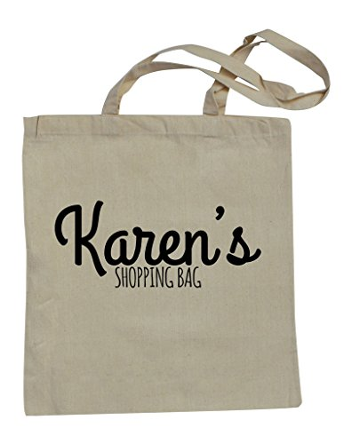 Cotton Shopping Name Bag Your With Natural Text Personalised RPS EqZt11