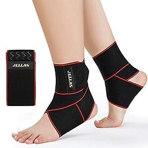 Jellas Support de Cheville Ajustable Brace Cheville Super Confortable Nylon Matériel élastique pour Cheville et Taille…