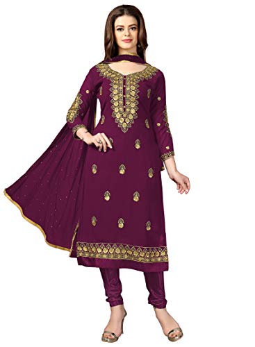 Panash Trends Women's Georgette Embroidery Salwar Suit Unstitched