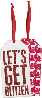 Set of 6 - Bottle Tag - Get Blitzen