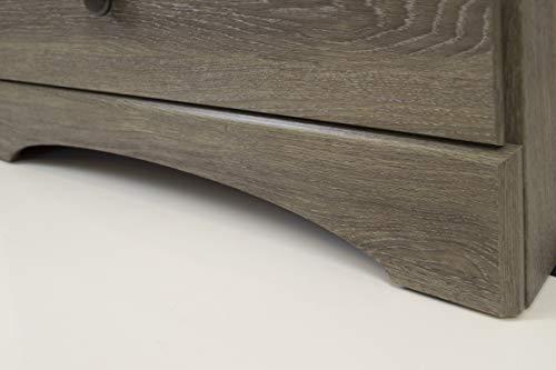 American Furniture Classics Five Piece Bedroom Set, grey