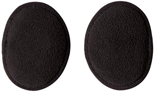 Ear Mitts Bandless Ear Muffs For Men & Women, Black Fleece Ear Warmers, Regular