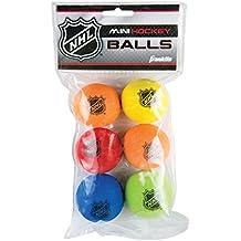 Franklin Sports NHL Foam Mini Hockey Balls Pack of Six - Assorted Colors