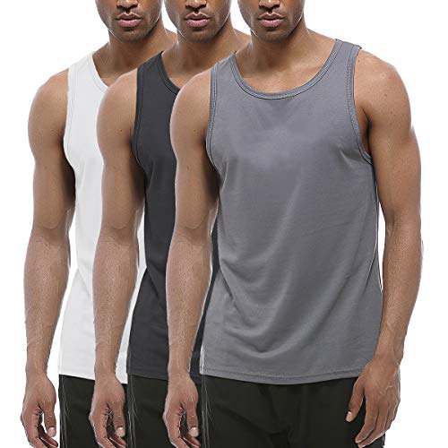 - XIHUII Men's Tank Tops - 3 Pack Workout Gym Sleeveless Training Fitness for Men