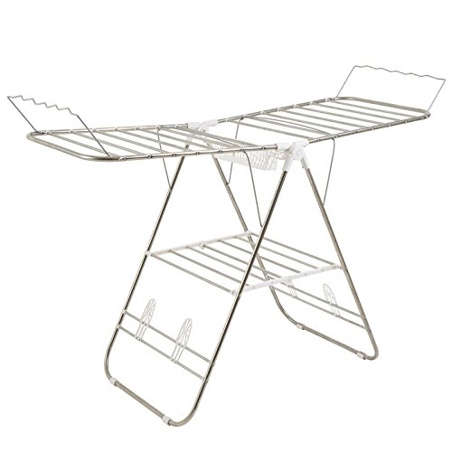 Home Adjustable Gullwing Drying Rack with Shoe Horns