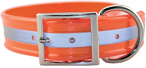 Collar Sunglo Reflective (OmniPet Sunglo Reflective Regular Dog Collar, Orange, 1.5
