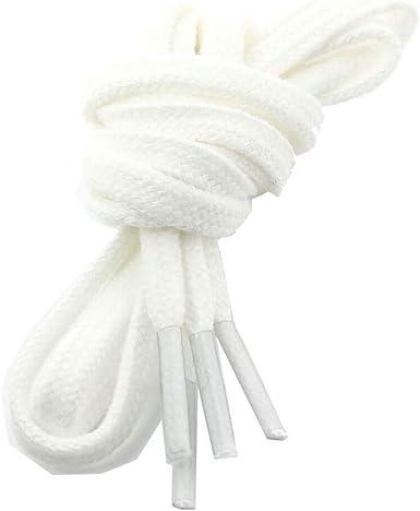 Les lacets Fran/çais Lacets Plats Coton Couleur Blanc