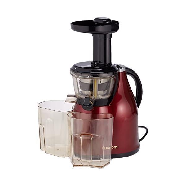 Hurom HB Spremiagrumi (Rosso Vino), Estrattore di succo a bassa velocità 80giri/min, HB-EBE08 - 2020 -