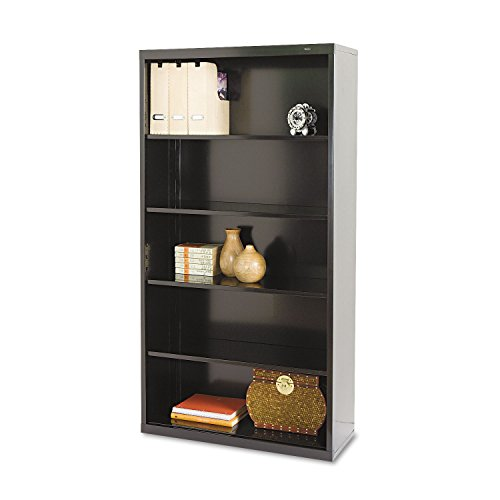 TENNSCO B66BK Metal Bookcase, Five-Shelf, 34-1/2w x 13-1/2d x 66h, Black ()