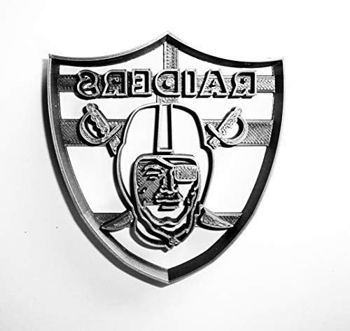 OAKLAND RAIDERS NFL FOOTBALL LOGO SPECIAL OCCASION COOKIE CUTTER BAKING TOOL 3D PRINTED MADE IN USA PR941 (Cookie Cutter Raiders)
