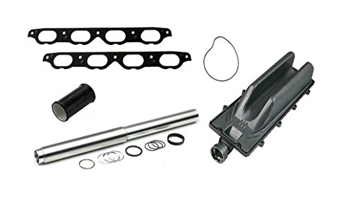 BMW V8 Complete Collapsible Coolant Transfer Pipe Repair Kit With Vally Pan And Intake Gasket (Intake Pipe Seal)