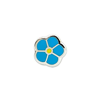 Forget Me Not WWII Blue Masonic Lapel Pin - 1/4