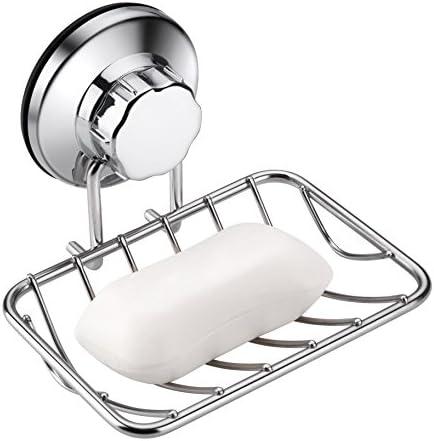 Starpack   White Soap Holder Kitchen Bathroom Suction type  72382 Pk of 1