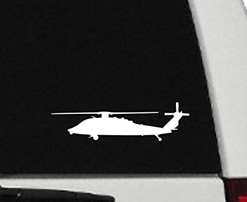 Decal - Helicopter - Blackhawk Helicopter Silhouette Vinyl Decal - Military Car Decal - H2 (3
