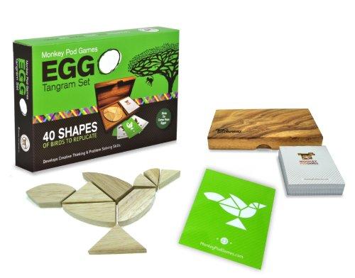 54 Bird Shapes Monkey Pod Games Egg Tangram Puzzle