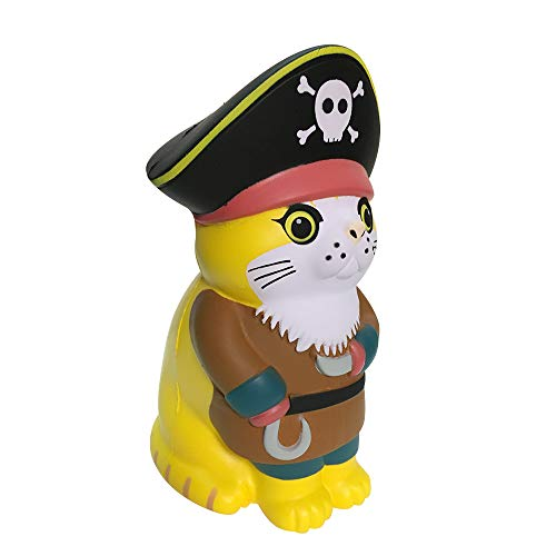 L.DONG Jumbo Squishies Viking Cat, Animal Super Soft Slow Rising Garfield Squishy Toys Party Favors Pet Cosplay Decoration Toys Stress Relief Charms Gift Squeeze for Kids -