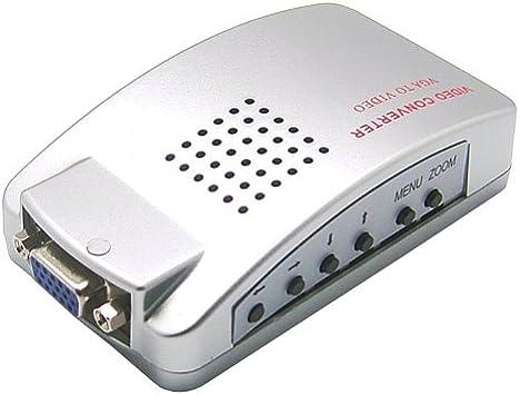 SIENOC DVD PC VGA a convertidor de TV S-video Convertidor de adaptador de vídeo: Amazon.es: Electrónica