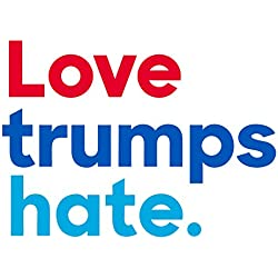 Artisan Owl Love Trumps Hate Auto Bumper Car Magnet - Anti Trump Magnet