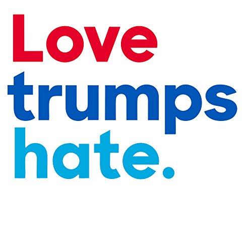 Love Trumps Hate Auto Bumper Car Magnet - Anti Trump Magnet ()