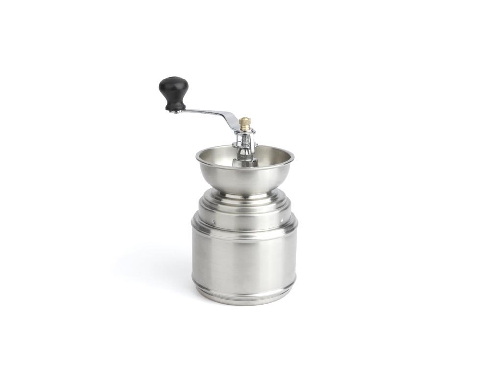 Bredemeijer Stainless Steel and Wood Coffee Mill, Ceramic Blade