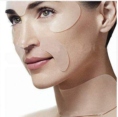 Anti Wrinkle & Anti Aging Skin Care Essentials: Silicone Pads/Patches for Face, Forehead, Eyes, Mouth & Neck