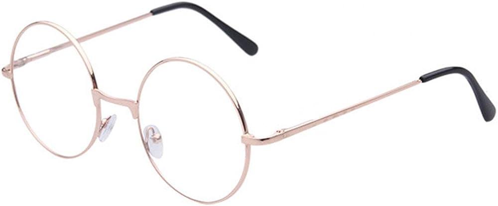 TRIXES Redondas Unisex Plateadas - Gafas estilo retro de los años sesenta Lentes Beatles transparentes - Gafas Griegas para Vestir montura de metal Accesorios para vestir - Gafas clásicas de dis