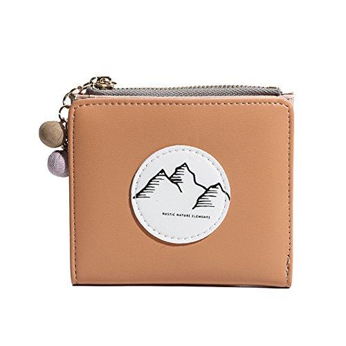 main éclair à à boucle brown Fermeture Thin Burenqi sac main zéro Mini sac Wallet multifonction Ultra xzqfEYw