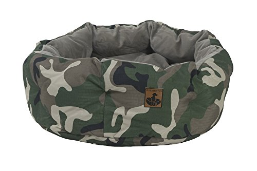 K9 Ballistics 28023 Deep Den Dog Bed, Medium (30''x24''x10''), Green Camo Rip stop/Brindle Velvet by K9 Ballistics