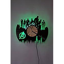 JUSTICE LEAGUE Night Light, Wall Lights, Wall Lamp, JUSTICE LEAGUE Wall Clock, Cool Rest Room Wall Art Decor (Green)