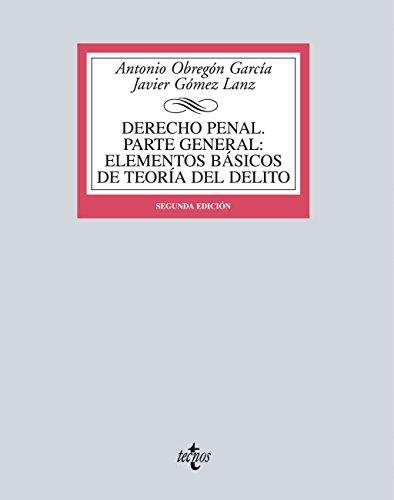 Descargar Libro Derecho Penal. Parte General Antonio Obregón García