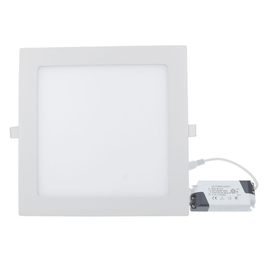 lemonbest high power 18 watt dimmable led panel light square recessed lighting fixture kit warm white amazoncom industrial u0026 scientific
