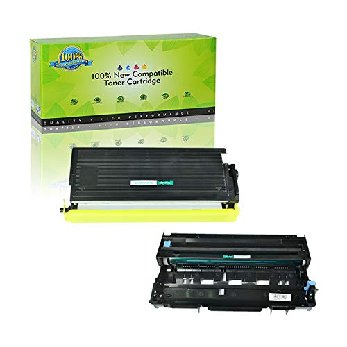 NineLeaf Compatible Toner Cartridge & Drum Unit Replacements for Brother TN-560 TN560 High Yield & DR-500 DR500 DCP-8020 D/8025D HL-1650/1850/5040/5050 MFC-8420/8820/8820DN (1 Toner 1 Drum, 2 Pack)