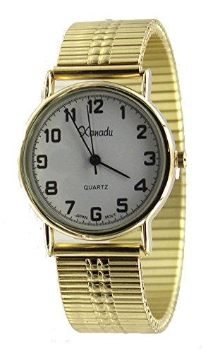 Men's Easy Reader Gold Tone Stretch Band Watch ()