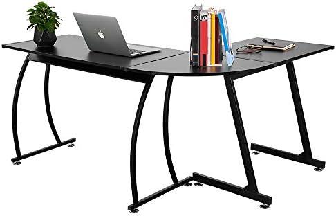 VADIM L-Shaped Home Office Corner Desk 57.9 inch Switchable Sides Computer Desk Be Computer Writing Desk, Workstation or Gaming Desk