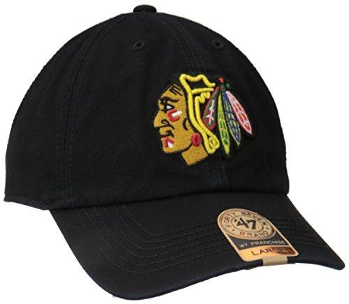 NHL Chicago Blackhawks '47 Brand Franchise Fitted Hat, Black, X-Large