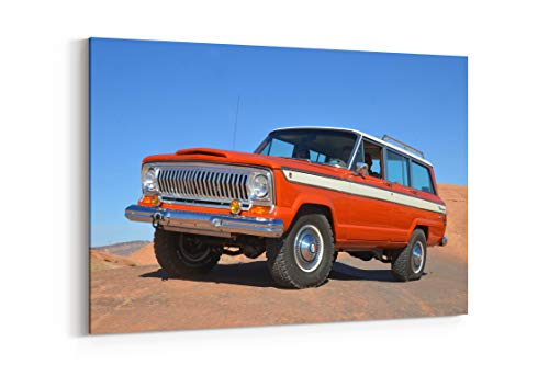 (1976 Jeep Wagoneer Offroad 4X4 SUV Stationwagon Truck D - Canvas Wall Art Gallery Wrapped 26