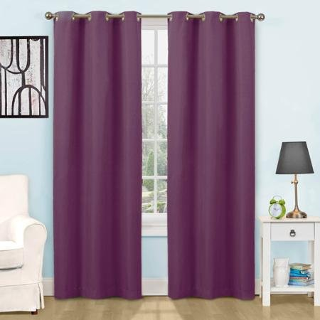 42x63 ,Eclipse Kids Dayton Energy-Efficient Curtain Panel ,Color: Plum (Eclipse Kids 63)
