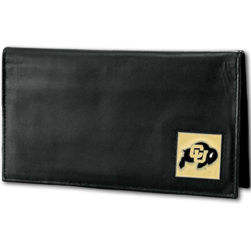 Siskiyou NCAA Colorado Buffaloes Deluxe Leather Checkbook Cover - Colorado Buffaloes Mens Leather