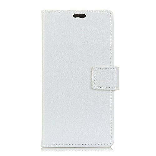 Wallet Flip Leather Case Cover For Xiaomi Mi Note (White) - 1