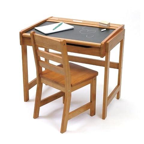 Lipper International 554P Child's Chalkboard Desk and Chair Set, Pecan