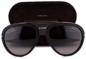 Tom Ford FT0452 Stacy Sunglasses Matte Black w/Brown Gradient Lens 02T TF 452