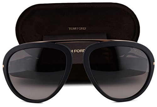 Tom Ford FT0452 Stacy Sunglasses Matte Black w/Brown Gradient Lens 02T TF - Sunglasses Campbell Ford Tom Sale
